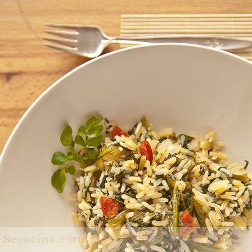 Acelgas rehogadas con arroz