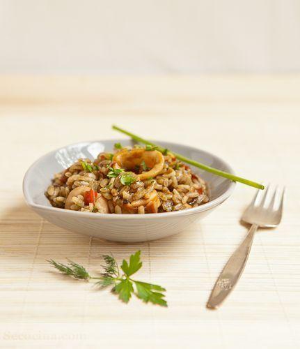 arroz cremoso de chipirones