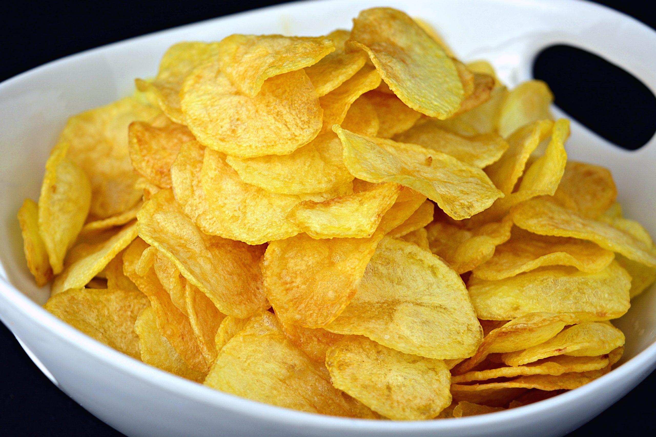 preparacion de patatas chips