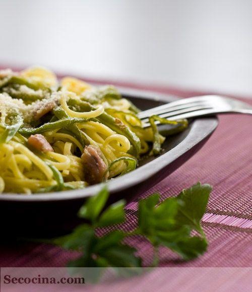recetas de tagliolini con alubia verde