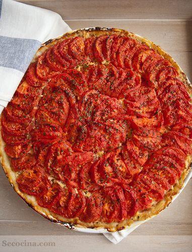 Tarta de tomates asados