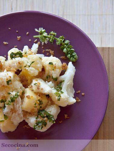 Ensalada de coliflor con bacalao
