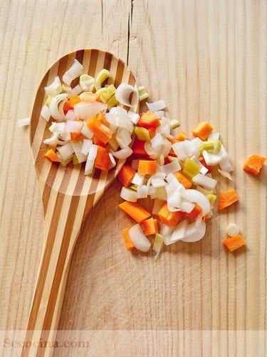 cuchara con verduras
