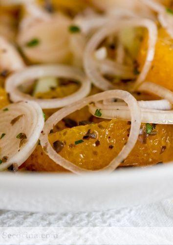 Ensalada de naranja y palmitos