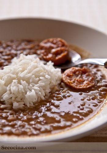 Lentejas con arroz