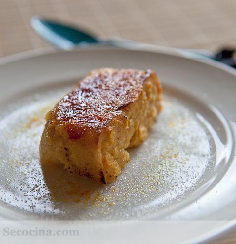 Pudding de manzana caramelizado