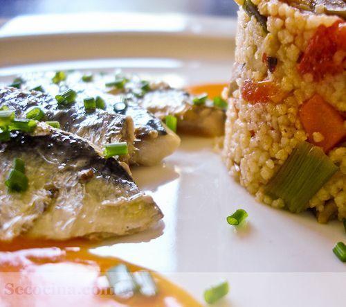 Sardinas con cuscús de verduras