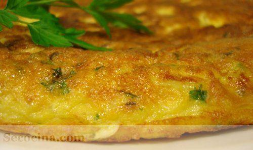 Tortilla de patata a las hierbas