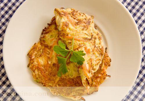 tortillitas de zanahoria y calabacín